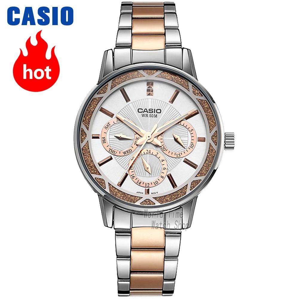 Casio montre De Mode simple pointeur étanche quartz dames montre LTP-2087RG-7A LTP-2087SG-7A LTP-2087D-1A LTP-2087G-4A