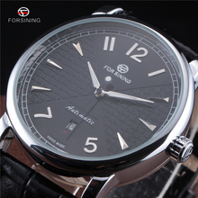 Forsining Men Business Classic Simple Design Calendar Display White Dial Male Wrist Watches Men Automatic Watch Top Brand Luxury