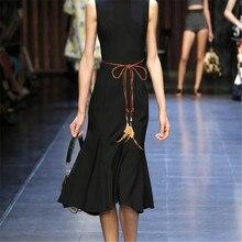 font b Women b font Ladies Fashion Designer Belts Light Body Chain Dress font b