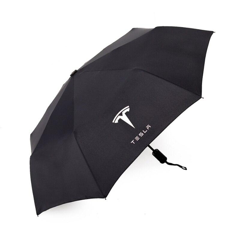 Automatic Men & Women Sun Rain Umbrella For Tesla MODEL 3 S X