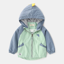 27kids Autumn Winter Jackets For Boy Girl Baby #8217 s Trench Children #8217 s Clothing 2-9Y Hooded Warm Outerwear Windbreaker Baby Coats cheap Without Active COTTON Polyester Fits true to size take your normal size cartoon REGULAR Unisex Sweatshirts Full dinosaur