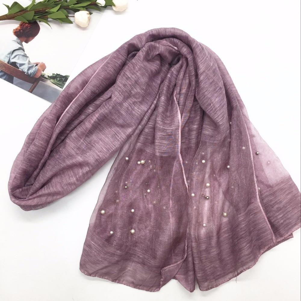 NEW Maxi Oversized plain shawl with Gold Chain Bead border  Scarf Hijab White