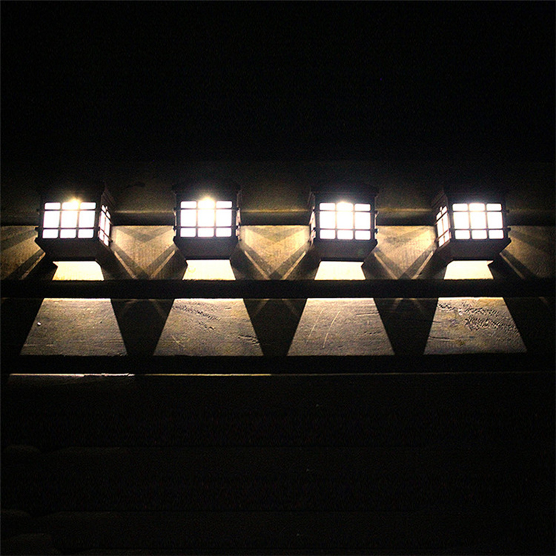 Retail LED Solar Light Outdoor Solar Led Wall Lamps Pathway Porch Lights  Fence Terrace Garden Decorative Lighting Luminarias In Solar Lamps From  Lights ...