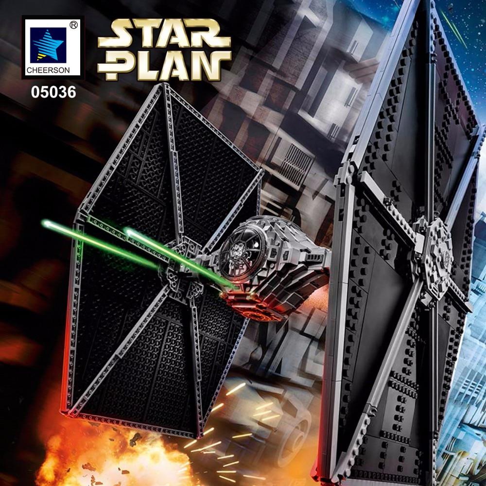 Star Wars UCS TIE FIGHTER DIY Development Building Brick Model Boys Gift Compatible font b Legoes