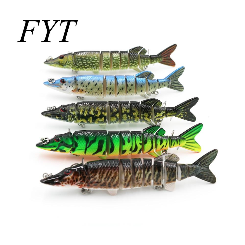 Fishing Lure With 2 Hook Fishing Baits 3D Eyes 8-Segment Lifelike Fishing Hard Lure 12cm 20g Crankbait Pesca Cebo ZX801