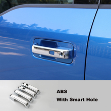 FIT FOR 2015 2016 2017 FORD F150 F-150 ABS CHROME DOOR HANDLE COVER CAP CATCH WITH SMART KEY HOLE TRIM ACCESSORIES