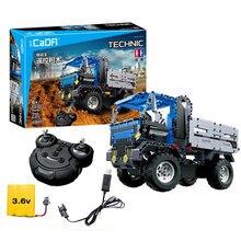 638pcs Technic Series RC Dump Truck Building Blocks Bricks City Engineering Construction Tipper Car Brinquedos Toys For Kids Boy