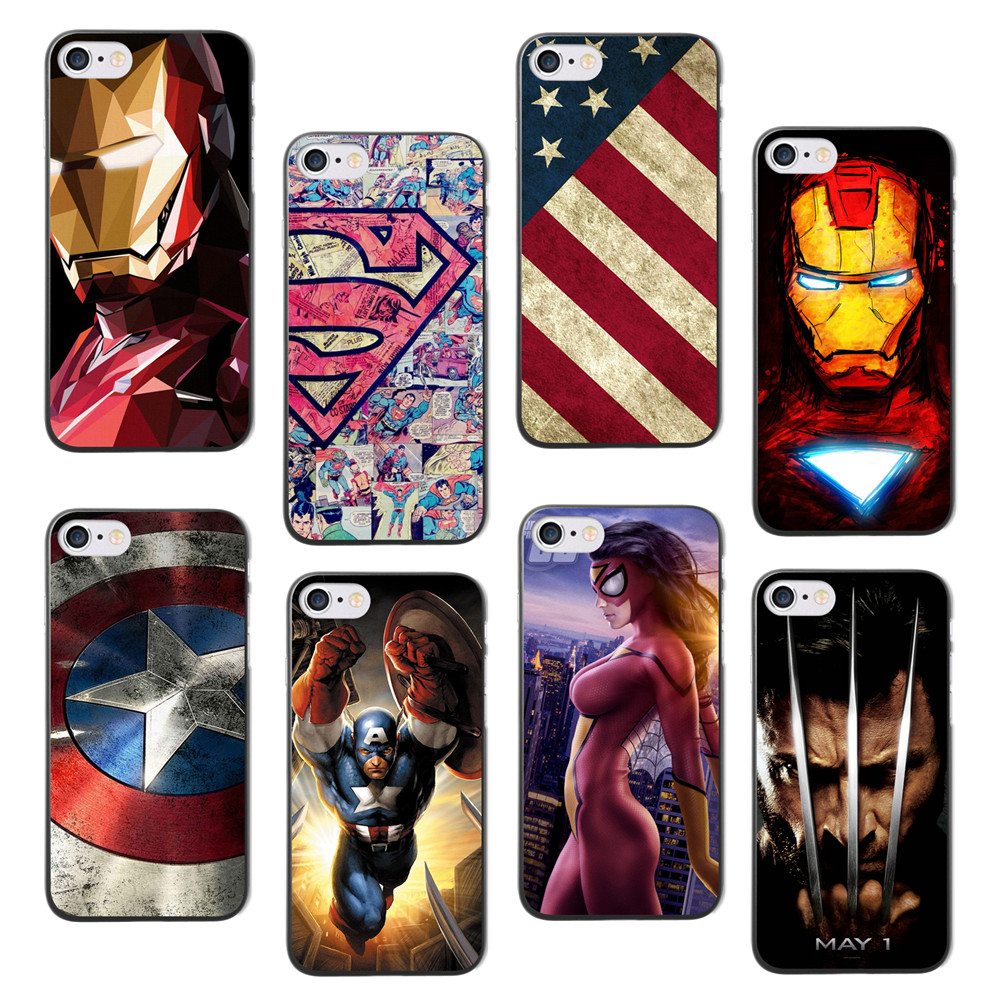 For iPhone 7 7 plus case Marvel Avengers Hard Back cover for iPhone 8 Phone case 2017 new arrivals coque for iPhone 8 plus