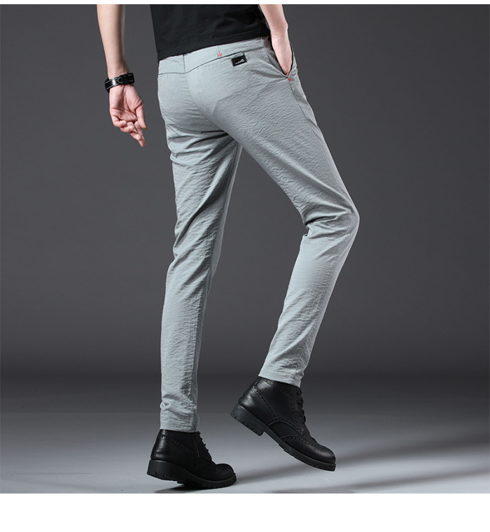 HTB1a6cbRVzqK1RjSZFoq6zfcXXaa Jantour 2019 Fashion Men Pants Slim Fit Spring summer High Quality Business Flat Classic Full Length thin Casual Trousers male