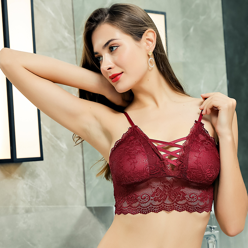 Attractive Young Girl On Silk Undress Bra Stock Photo
