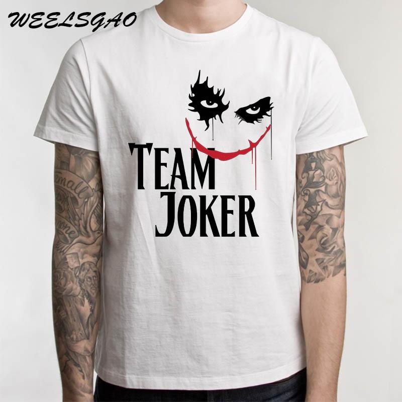 Summer New Joker Heath Ledger Why So Serious T Shirts Men Cotton The Joker Father Short Sleeve Camisa Masculina T-Shirt