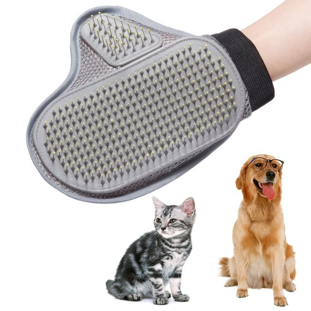 Flexible  Pet Brush Glove Cat Grooming Hair Removal Bath Rubber Mitt Puppy Washing Cleaning Needle Bath Comb Dog Massage Shower