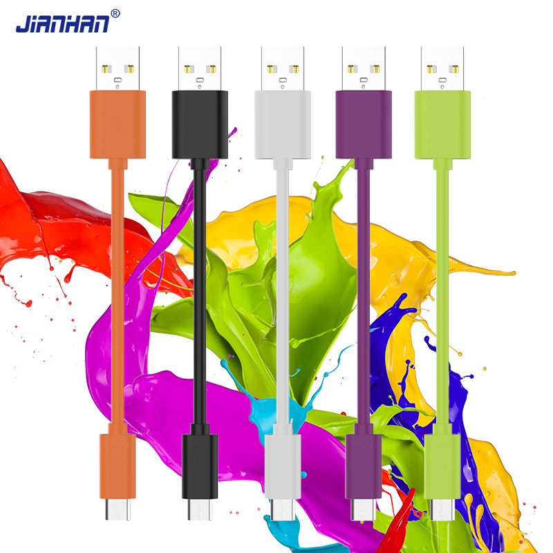 JianHan 12CM Colorful Micro USB Data Cable,Fast Charging Cable micro USB for Xiaomi Redmi Note 4X,Samsung Galaxy S7,Huawei P8