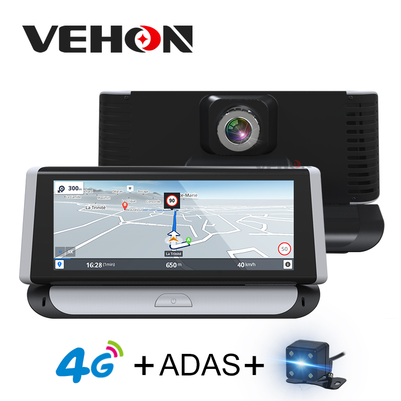 VEHON 4G ADAS 6.86 inch Car Navigator with Car Camera Video Recorder Dash cam Full HD 1080P Dual Lens dvrs Gps Navigation ...