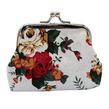 Small Coin Purse Elegant Women's Purse Cloth Wallet Floral Pouch Wallet Card Holder Mini Clutch Money Bag Ladies Handbags