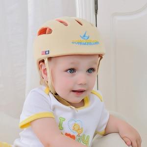 Image 5 - Bebê capacete de proteção de segurança capacete para bebês menina algodão infantil proteção chapéus crianças boné para meninos meninas infantil
