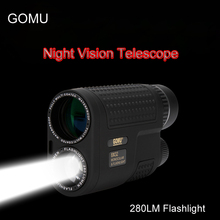 Sale GOMU 8×32 Night Vision Monocular Telescope Multifunctional Compact Pocket-size scope Built-in Rechargeable Flashlight for Hunt