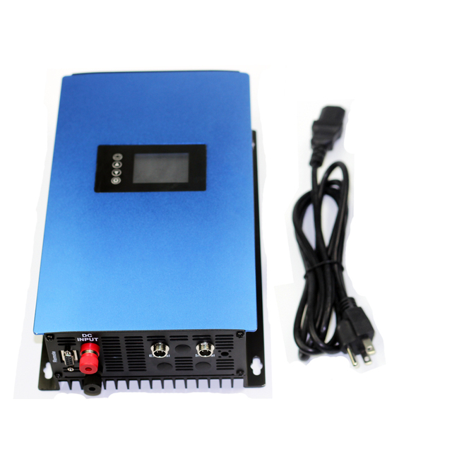 1000W LCD Solar Grid Tie inverter ,MPPT pure sine wave on grid inverter DC22-65V or 45-90V to 110V/ 230V AC low battery cut off