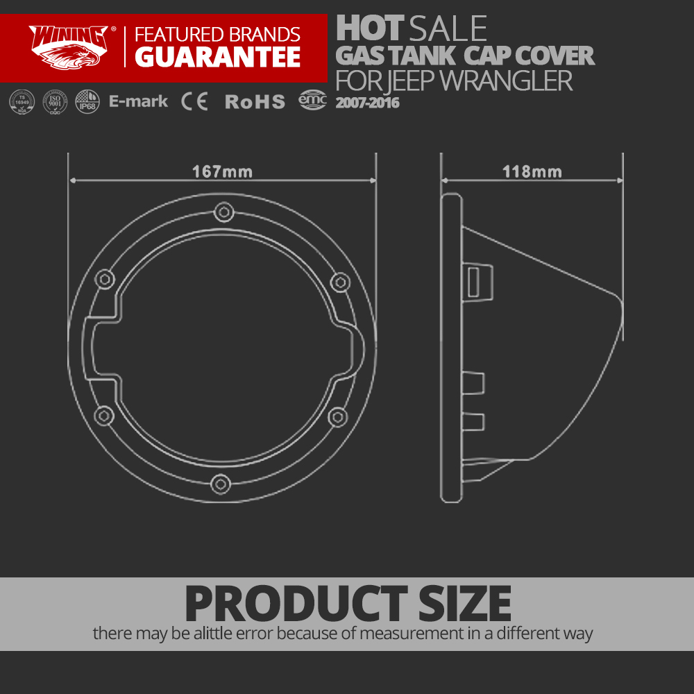 Free shpping Newest Fuel Tank Cover Gas Lid Filler Cap Metal ABS for Jeep  Wrangler JK 2007 2016 Fuel Gas Tank Cap Cover Exterior-in Car Light  Accessories ...