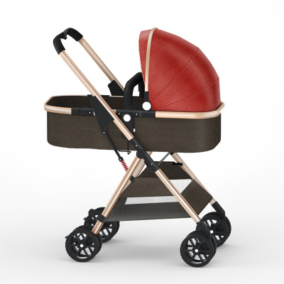 High landscape stroller can sit and lie foldable ultra-light one-handed collect car  two-way shock absorber baby strollerHigh landscape stroller can sit and lie foldable ultra-light one-handed collect car  two-way shock absorber baby stroller