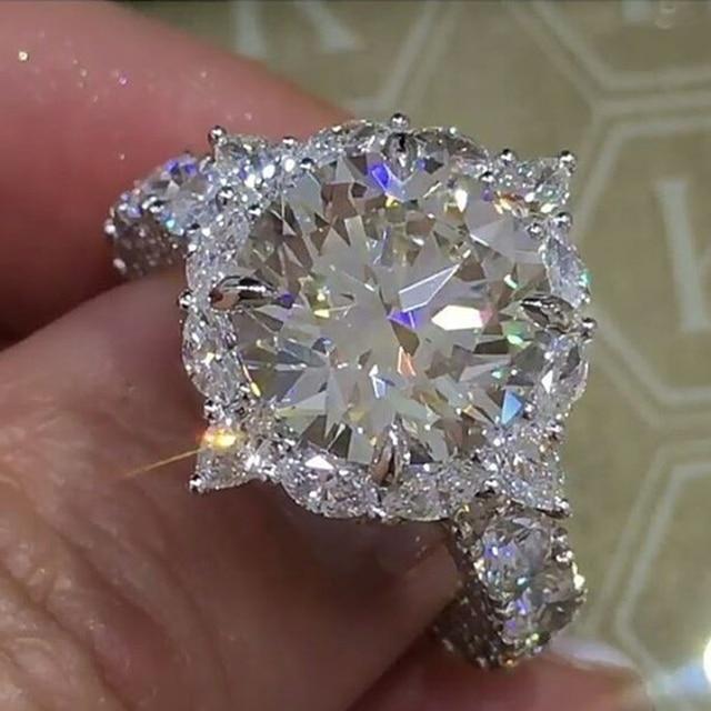 Encanto rodada anel grande anel de cristal clássico temperamento Europeus e Americanos populares novos produtos