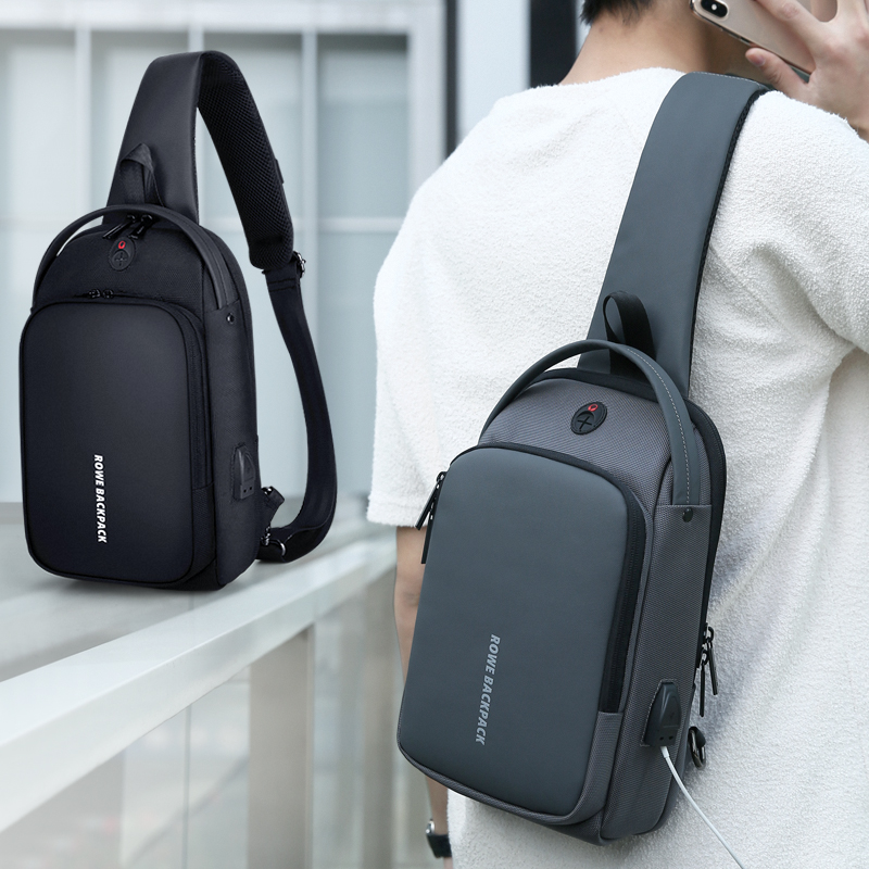FRN Male Shoulder Bag USB Charging Crossbody Bag Men Antitheft Chest Bag School Summer Short Trip Messenger Bag 2019 New ArrivalFRN Male Shoulder Bag USB Charging Crossbody Bag Men Antitheft Chest Bag School Summer Short Trip Messenger Bag 2019 New Arrival