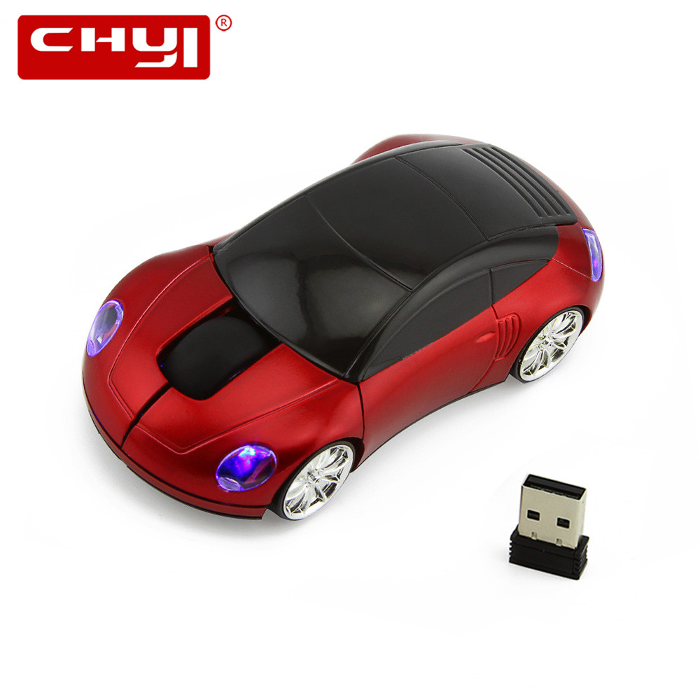 Wireless Mouse Car Shape Computer Mice Mause Super 2.4Ghz With Flashing LED Sem Fio Mouse for Netbook Laptop Gaming Mouse