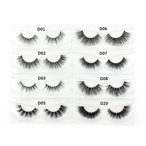 Image 5 - 100Pairs/Pack Eyelashes 3D Mink Lashes With Tray No Box Hand Made Full Strip Lashes Mink False Eyelashes Makeup eyelashes Fluffy