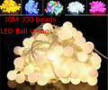 30m 300 LED 110v ball string christmas lights new year holiday party wedding luminaria decoration Garland lamps indoor lighting