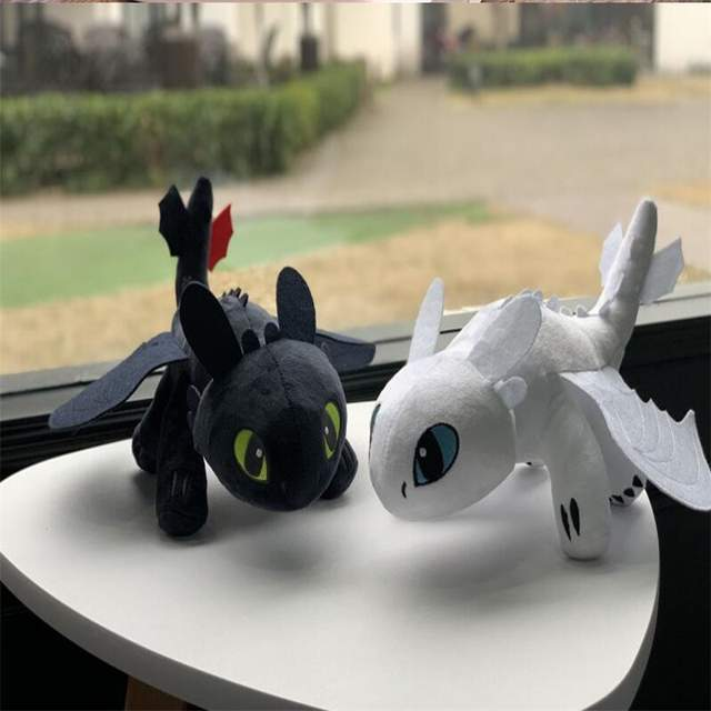 US $13 8 |30cm How To Train Your Dragon Toys Night Fury Dragon Plush Doll  Toys Toothless Dragon Action Figure Toys Children Kids Gift-in Stuffed &