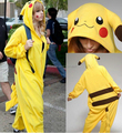 Thick Soft Flannel Onesie Pyjama Costume - Pokemon Pikachu Halloween Christmas Carnival Party Clothing