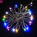 2m long 20 Led Lamps Button Cell Battery Powered String Wedding Party Copper Wire Garlands Decoration Fairy Lights Sparky light