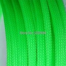 3 мм 10 м цветная изоляция оплетка плотный ПЭТ Провода кабели защита расширяемый кабель втулка провода ткацкий станок