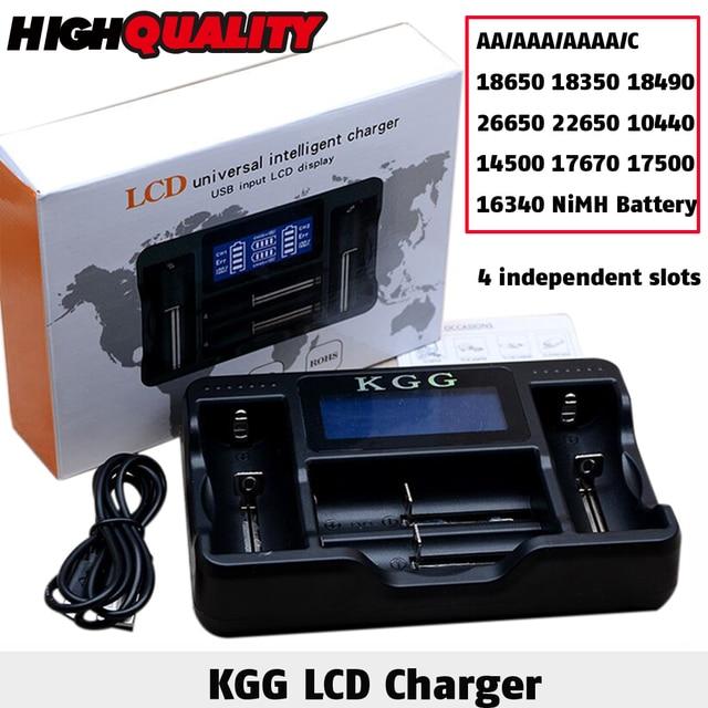 kgg 4 lcd display usb rapid intelligent charger for aa aaa aaaa c
