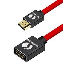 HDMI uzatma kablosu V2.0 0.5M 1M 1.5M 2M 3M erkek kadın genişletici HDMI kablosu altın kaplama METAL SHELL1080P 3D
