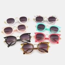 KRMDING 2018 Kids Sunglasses Girls Brand Cat Eye Children Glasses Boys UV400 Lens Baby Sun glasses Cute Eyewear Shades Goggles