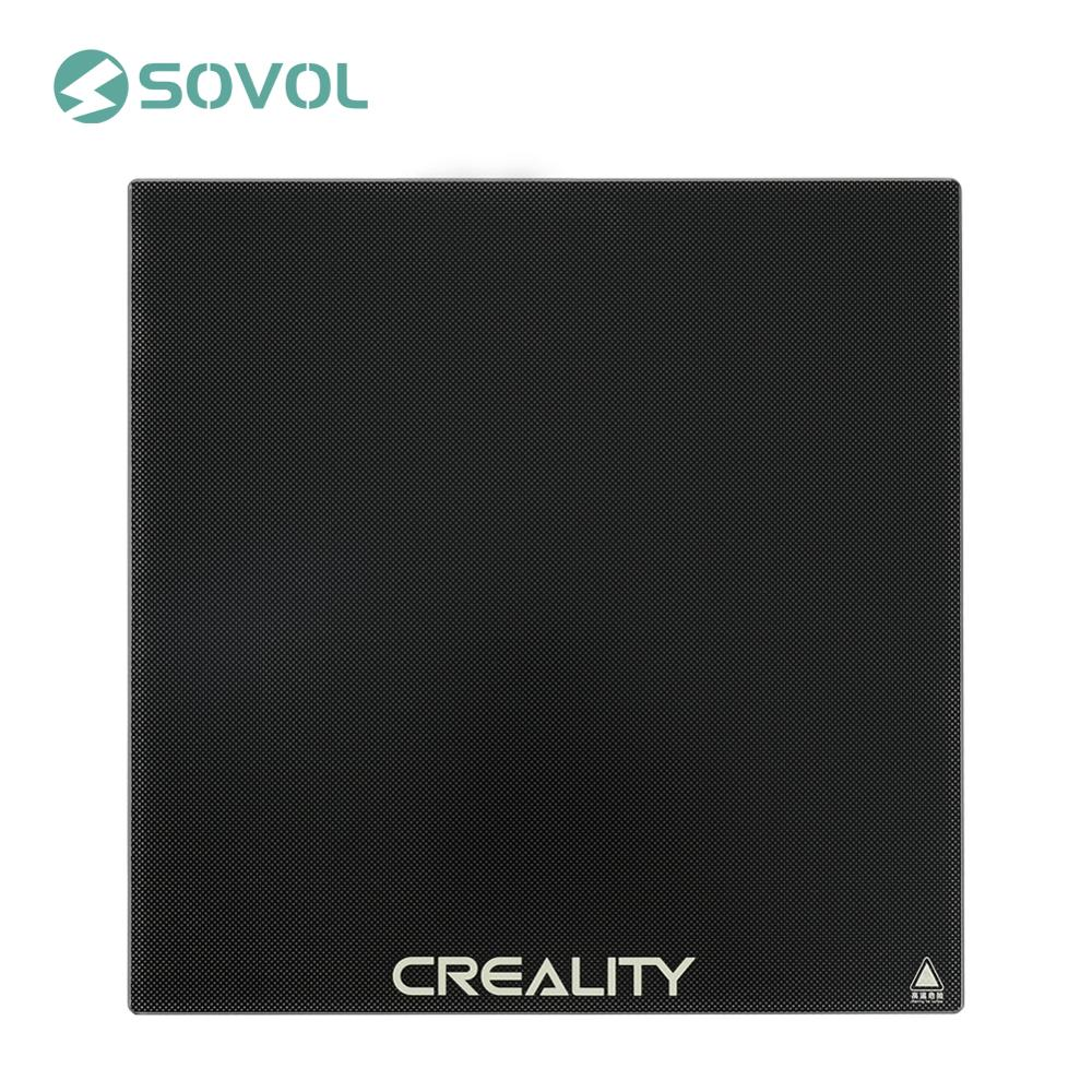 CREALITY 3D Printer Platform Silicon Carbon Heated Bed Build Surface Tempered Glass Plate 235 235 3mm For Ender-3 3Pro Ender-5