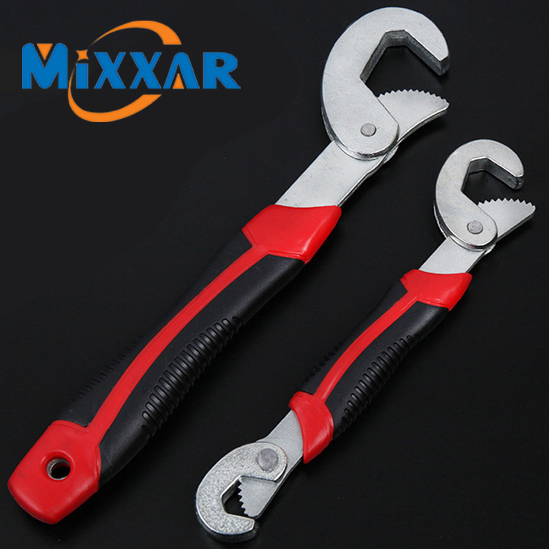 ZK20 Drop Ship Multi-Function 2pcs Universal Wrench Adjustable Grip Wrench 9-32mm Ratchet Wrench Spanner Hand Tools Stock In US