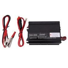 300 W Solar Power Inverter DC 12 V y AC 230 V Modificado Conventer con Cargador de Coche y Un Par Pinzas de cocodrilo Para la Televisión En DVD jugador