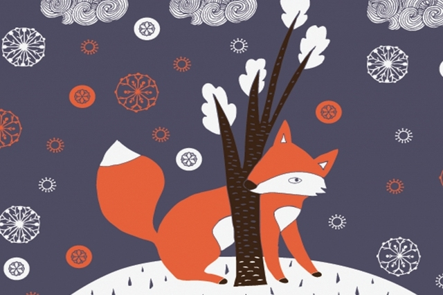 Mural Cute Red Fox Wall Large 3D Murals Wallpaper For Children