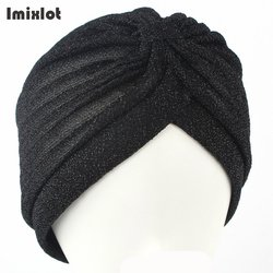 2017 new fashion women unisex solid wrinkle indian stretchable turban hats beanies caps for women ladies.jpg 250x250