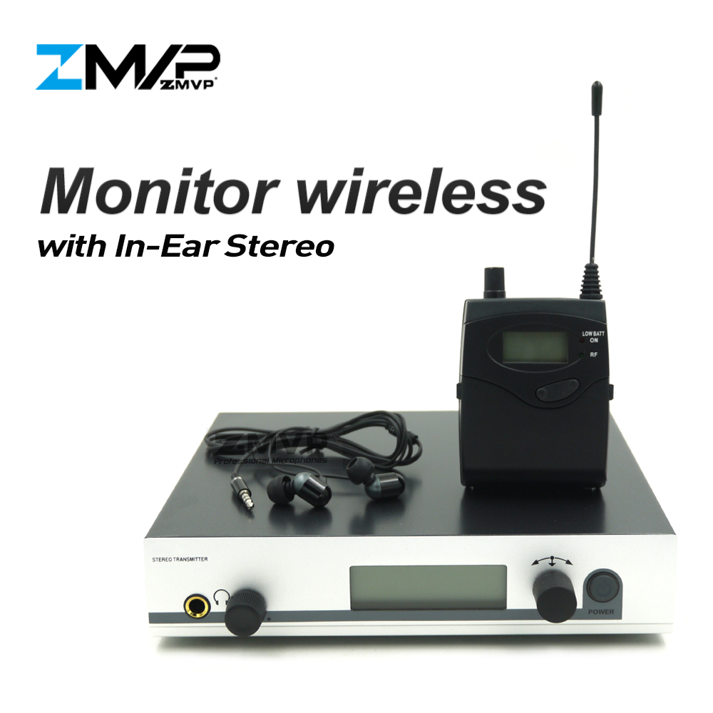 ZMVP 300 IEM G3 Professional In Ear Stereo Monitor Wireless System with Bodypack Transmitter for Studio