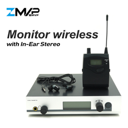 ZMVP 300 IEM G3 Professional In Ear Stereo Monitor Wireless System with Bodypack Transmitter for Studio Stage Performance