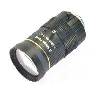 Hiçbir Bozulma Endüstriyel Mikroskop Lens Büyük Görsel Alan 3.0MP Manuel IRIS Zoom odak lensi 8-50mm CS C Dağı lens