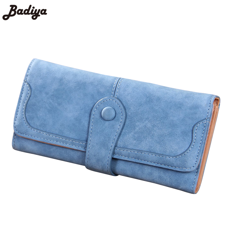 Korea Candy Color Matte Leather Wallet For Girl Fashion Women Long Purse Card