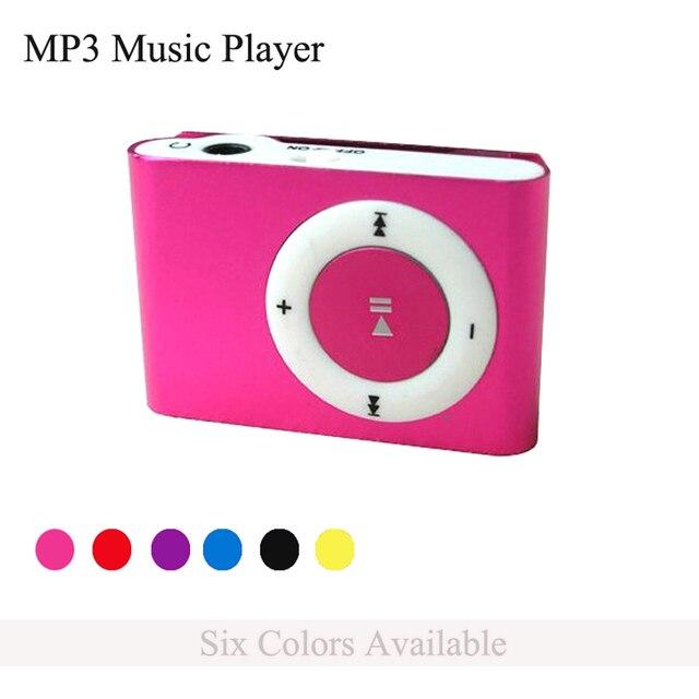 Новый Мини-Клип MP3 Музыкальный Плеер с TF/SD Card слот + Наушники + Кабель Питания Легкий и Портативный Электронный подарки