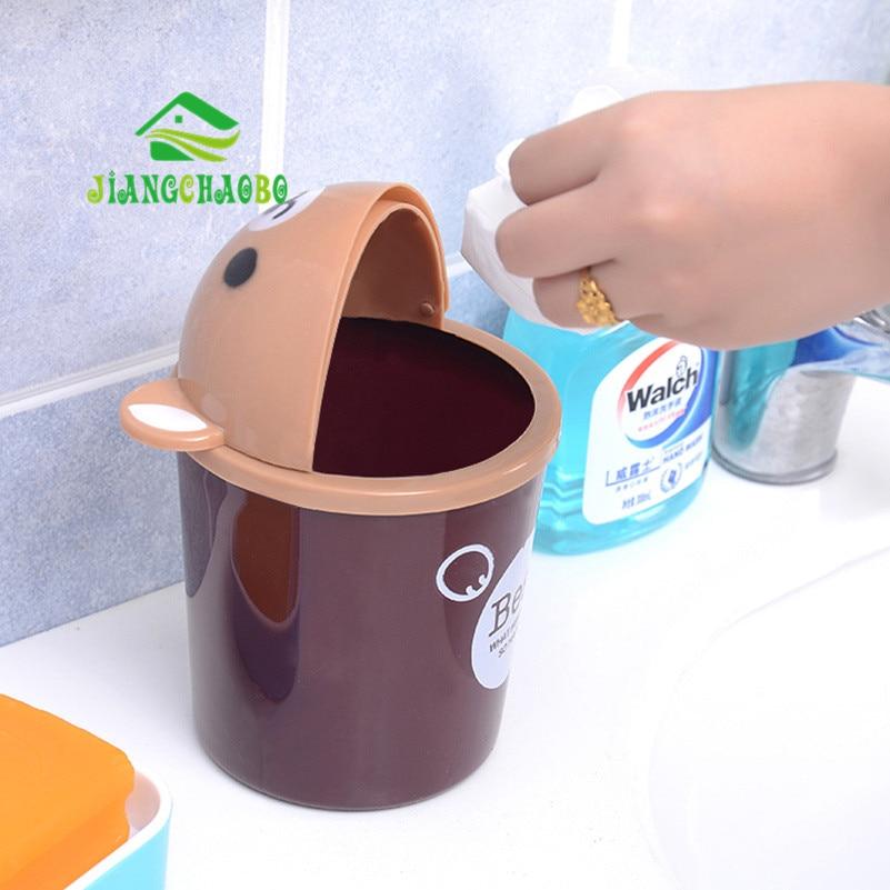 Mini Bucket Bucket Kartun Cute Trash Barrel Creative Desktop Storage - Organisasi dan penyimpanan di dalam rumah - Foto 2