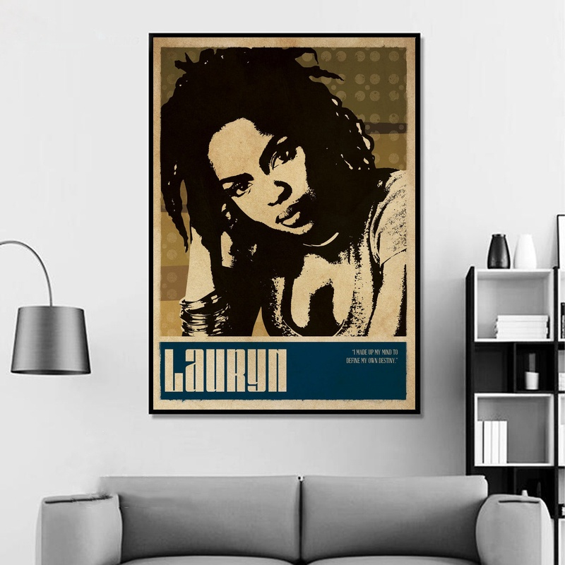 Vintage Style Music Decor Kendrick Lamar Print Black Panther Retro Music Poster Framed Music Print