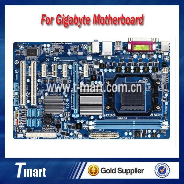 ФОТО 100% working Desktop motherboard for Gigabyte GA-780T-D3L System Board fully tested