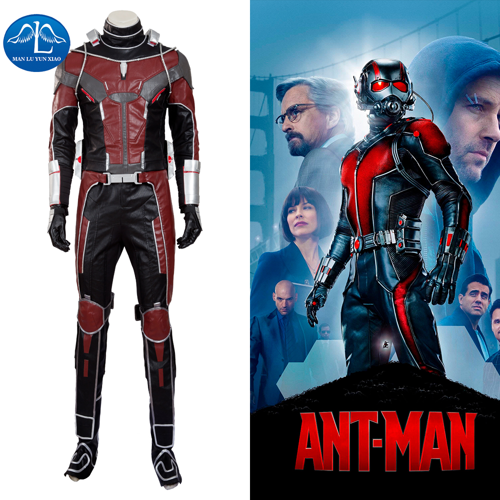 MANLUYUNXIAO High Quality Upgraded Antman Costume from Civil War Ant-Man Costume Suit With Accessory Halloween Cosplay Costume